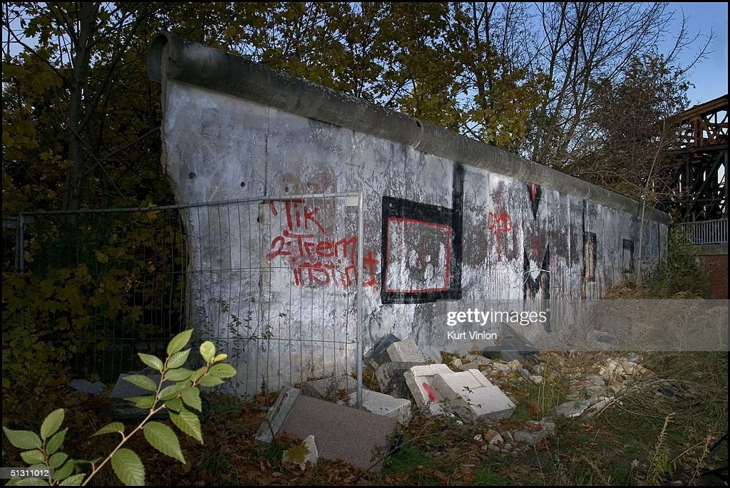 There are a few sections of the last version of the Wall in St Hedwig Cemetery, Berlin's oldest Catholic cemetery