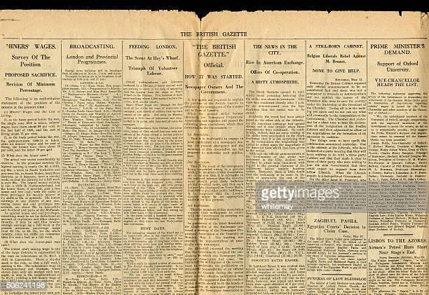 Teil der britischen Gazette 13. Mai 1926