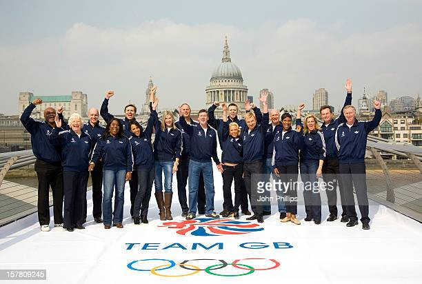 A Part Of The British Olympic Legends Team For London 2012 Kriss Akabusi Mary Peters Adrian Moorhouse Tessa Sanderson Roger Black Kelly Holmes...