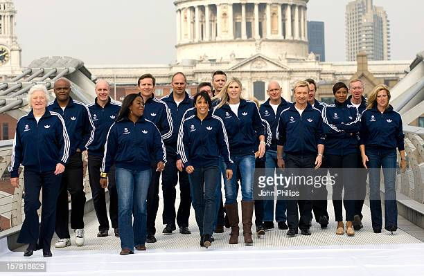 A Part Of The British Olympic Legends Team For London 2012 Mary Peters Kriss Akabusi Adrian Moorhouse Tessa Sanderson Roger Black Steve Redgrave...