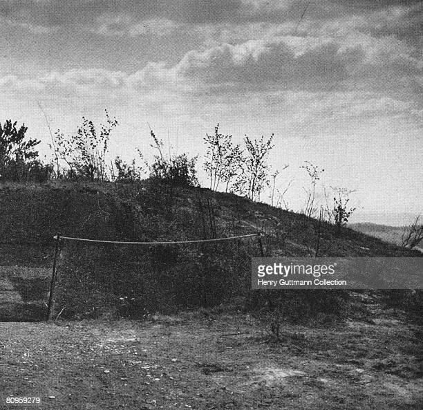 Part of the camouflaged exterior of the Felsennest the Fuhrer Headquarters near Bad Munstereifel Germany circa 1940 It was used by Nazi Leader Adolf...