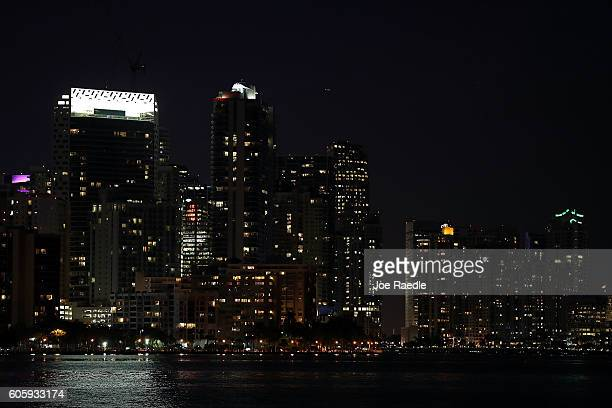Part of the City of Miami's skyline is seen after a Federal jury found that the city defrauded bond investors on September 15, 2016 in Miami,...