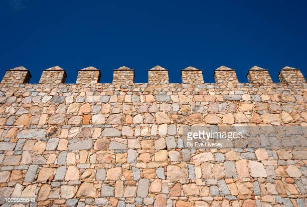 part of the city walls - castle wall stock pictures, royalty-free photos & images