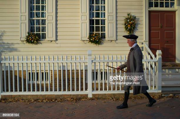 Part of the Holiday decorations in Colonial Williamsburg VA on December 6 2017