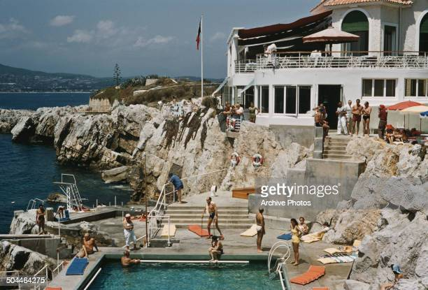 Part of the Hotel du CapEdenRoc in Cap d'Antibes southeastern France circa 1965