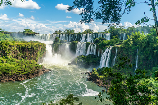 Part of The Iguazu Falls seen from the Argentinian National Park 1159474019