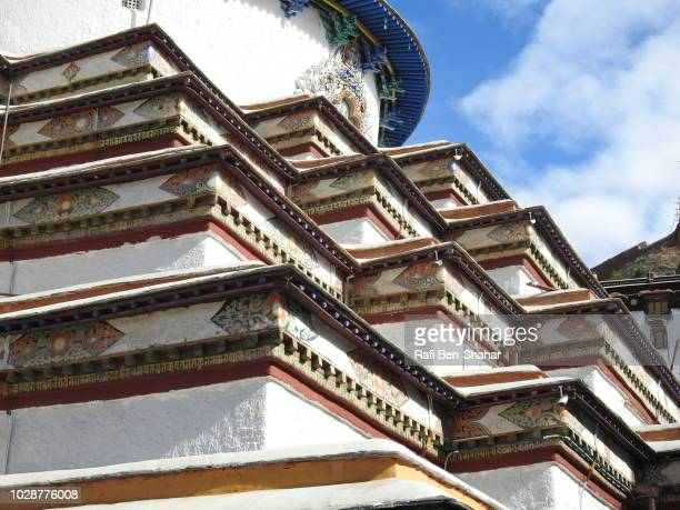 part of the large stupa in the pelkhor chode temple - chode picture stock photos and pictures