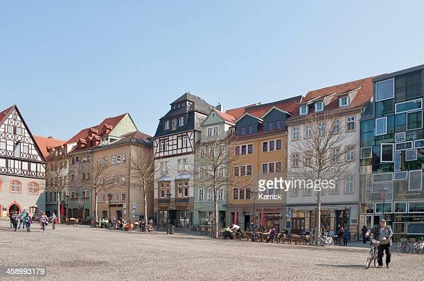 Der market place in Jena-Germany
