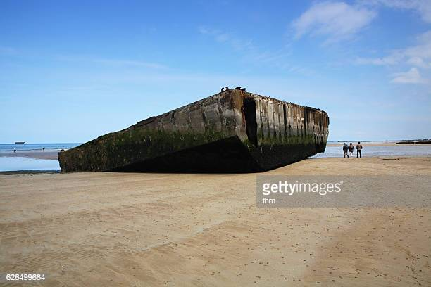 """Part of the """"Mulberry harbour"""", D-Day 1944, Normandy/ France"""