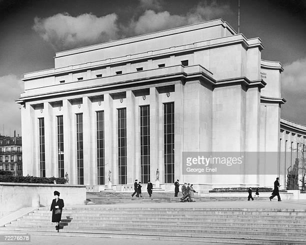 Part of the Palais de Chaillot in the Trocadero area of Paris, circa 1945.
