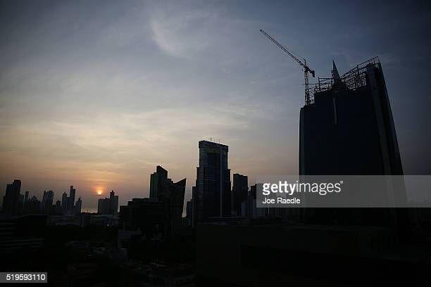 Part of the Panama City skyline is seen as revelations about the law firm Mossack Fonseca Co continue to playout around the world on April 7 2016 in...