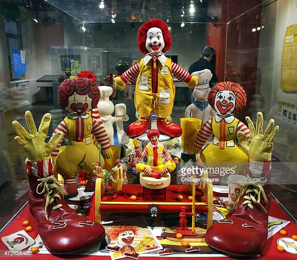 Part of the Ronald McDonald display as the Museum of Broadcast Communications in Chicago opens a new exhibit Salute to Advertising's Greatest Icons...