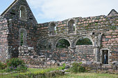 ruins abbey at iona iona is