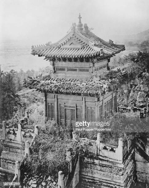 Part of the ruined Old Summer Palace Beijing China circa 1860 The Palace formerly the residence of emperors of the Qing Dynasty was destroyed by...