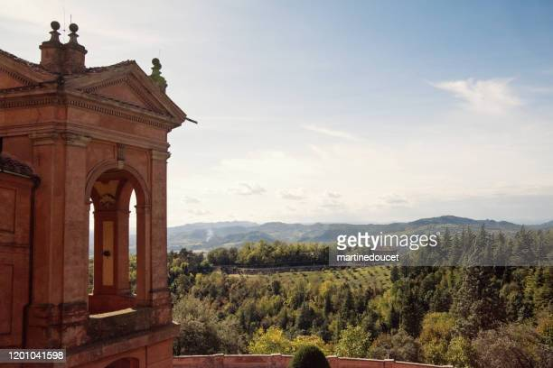 """part of the santuary of the madonna di san luca in bologna, italy. - """"martine doucet"""" or martinedoucet stock pictures, royalty-free photos & images"""