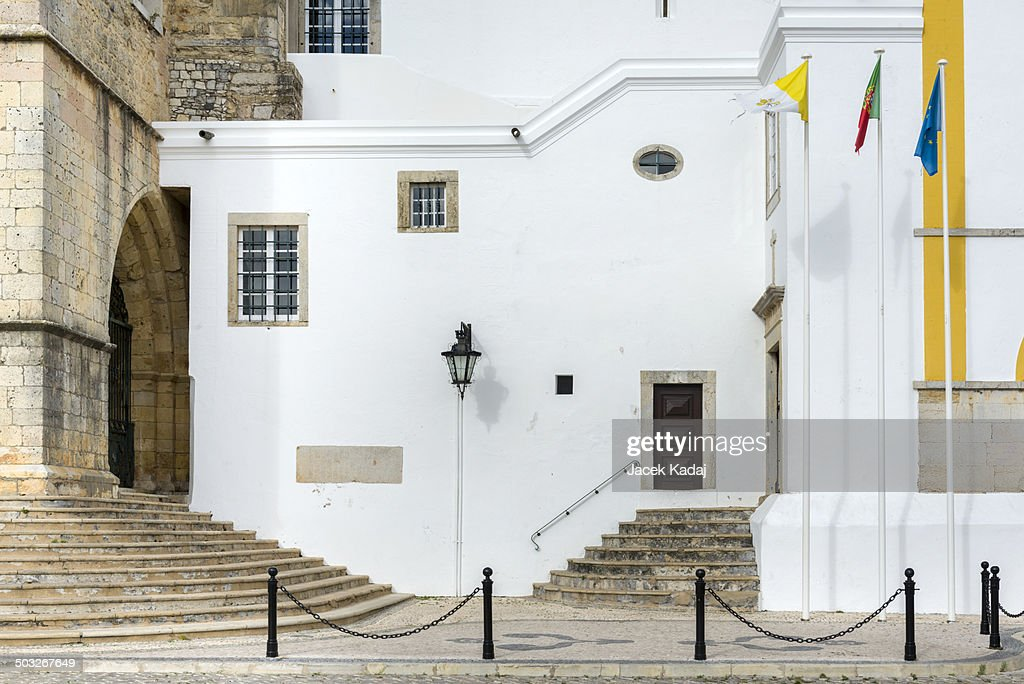 Part of the Se Cathedral in Faro, Portugal : Stock Photo