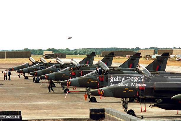 Part of the squadron of Jaguar ground attack attack aircraft based at RAF Coltishall. This weekend a squadron of twelve ground attack, and...