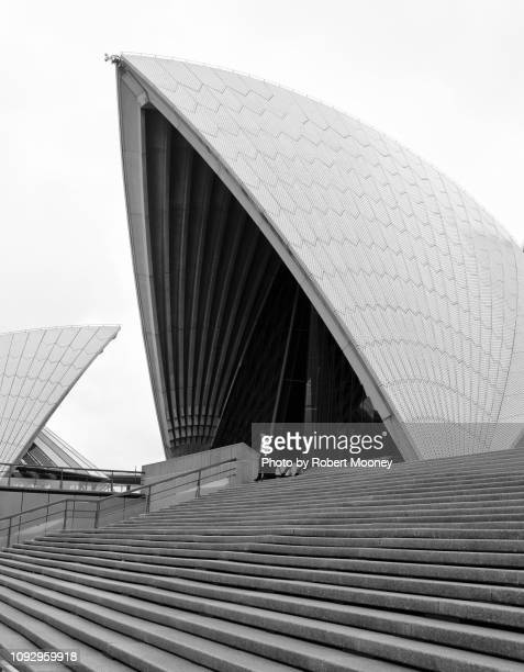 part of the sydney opera house showing exterior architectural details - sydney ストックフォトと画像