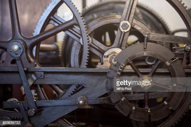 Part of the threetrain clock which drives the hands of Big Ben is seen in the mechanism room which will be dismantled and cleaned during the...