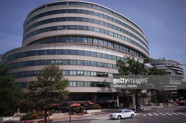 Part of the Watergate complex is seen on August 16 2014 in Washington DC Italian Luigi Moretti was the chief architect for the complex which is...