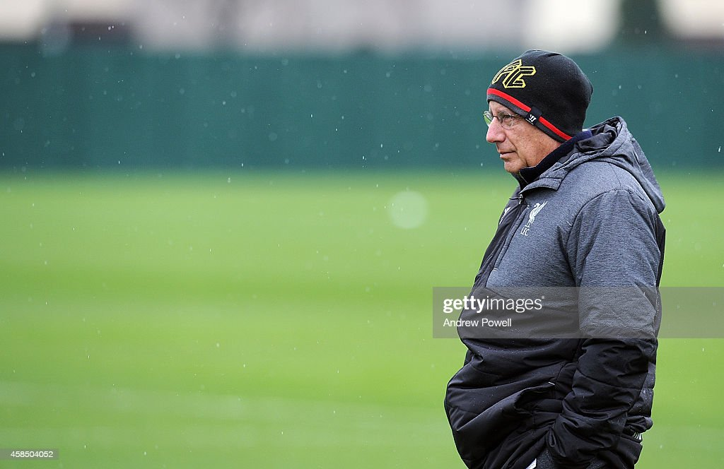 Part owner of Liverpool Tom Werner during a training session at Melwood Training Ground on November 6, 2014 in Liverpool, England.