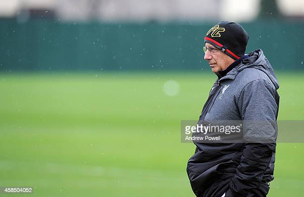 Part owner of Liverpool Tom Werner during a training session at Melwood Training Ground on November 6 2014 in Liverpool England