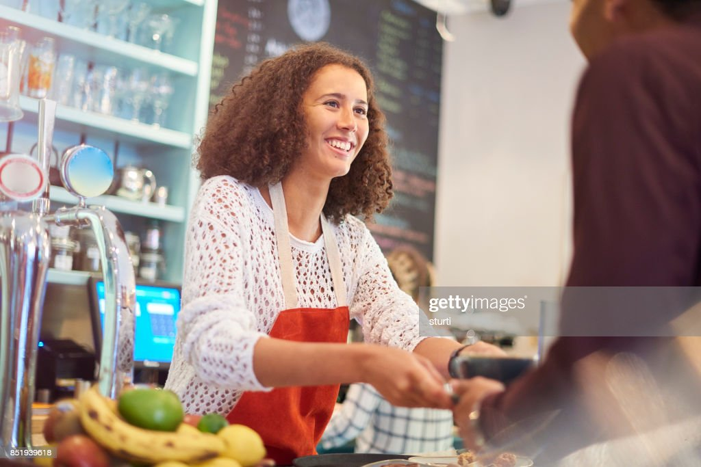Part Time Job In A Coffee Shop High-Res Stock Photo ...