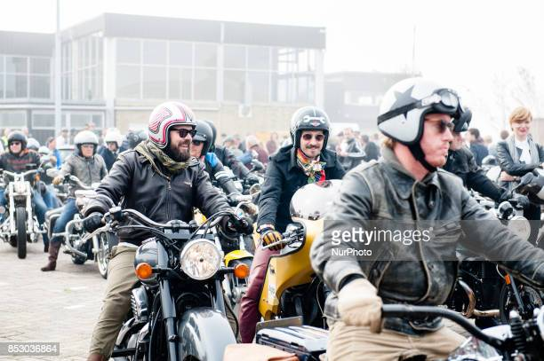 Partecipant at Annual 'Distinguished Gentleman's Ride' in Amsterdam Netherlands on September 24th 2017 For the sixth consecutive year streets across...