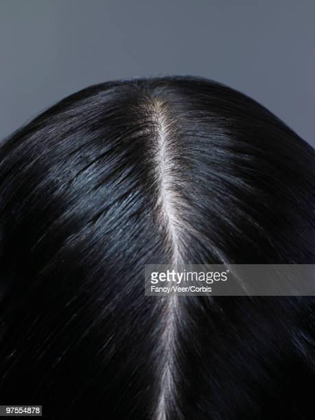 parted hair - hair parting stock photos and pictures