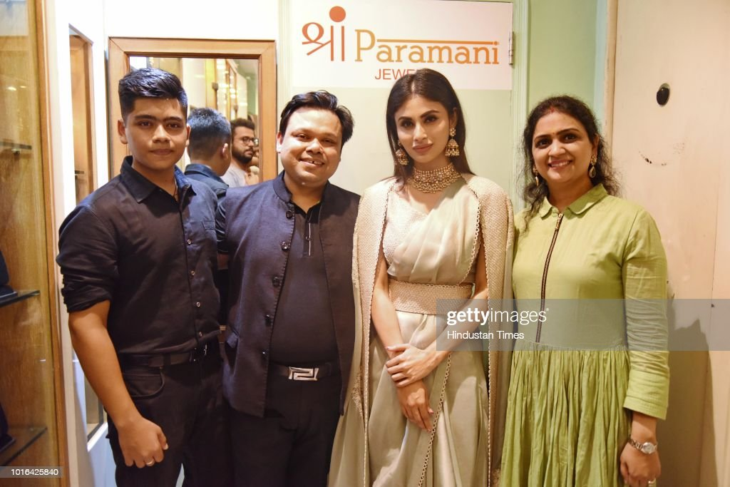 Bollywood Actor Mouni Roy Visits Shri Paramani Jewels Store In Delhi