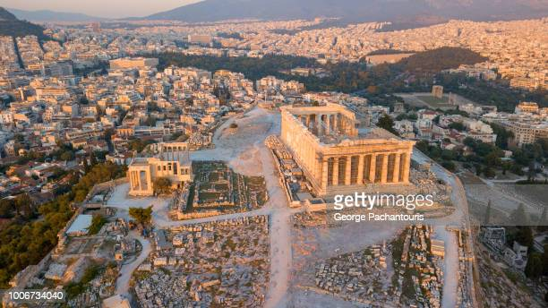 parthenon at the acropolis of athens - athens greece stock pictures, royalty-free photos & images
