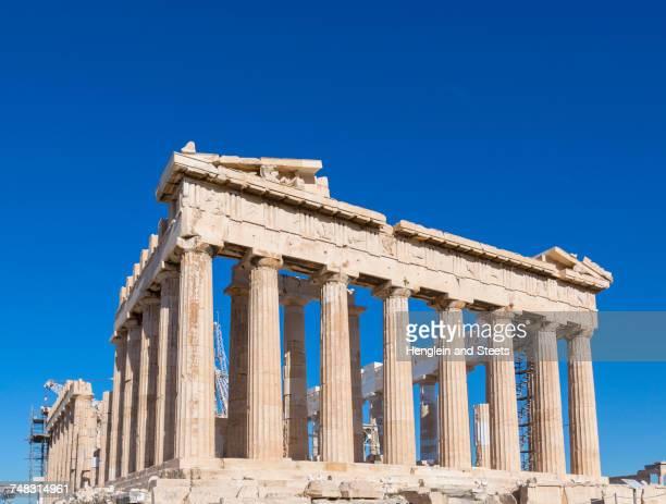 Parthenon of the acropolis, Athens, Attiki, Greece, Europe