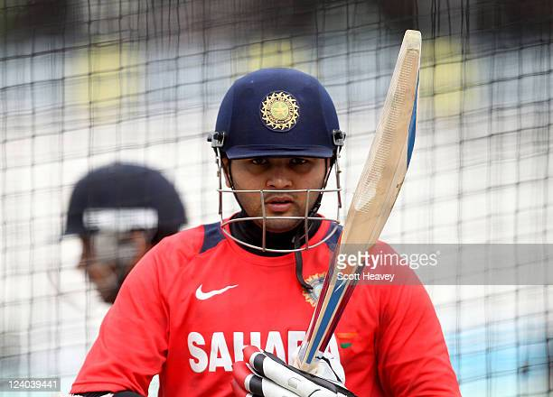 Parthiv Patel of India during a nets session at The Kia Oval on September 8 2011 in London England