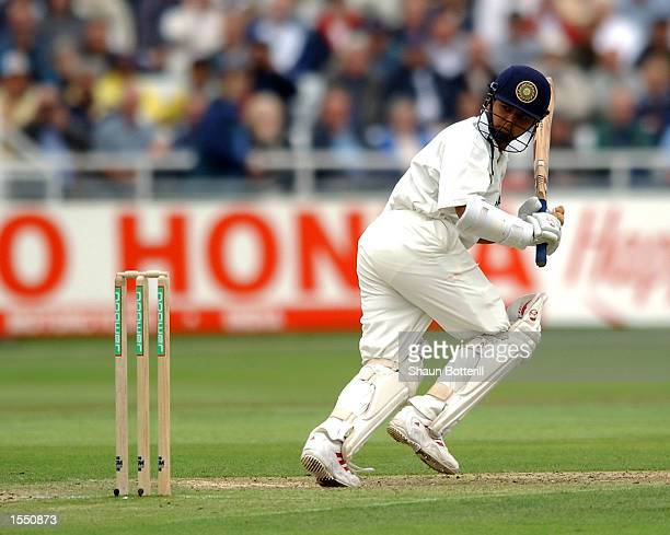 Parthiv Patel of India in action during the second day of the NPower Second Test match between England and India on August 9 2002 played at Trent...