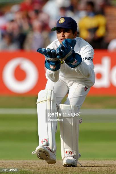 Parthiv Patel of India in action during the Third npower Test match between England and India on August 25 2002 at Headingley in Leeds