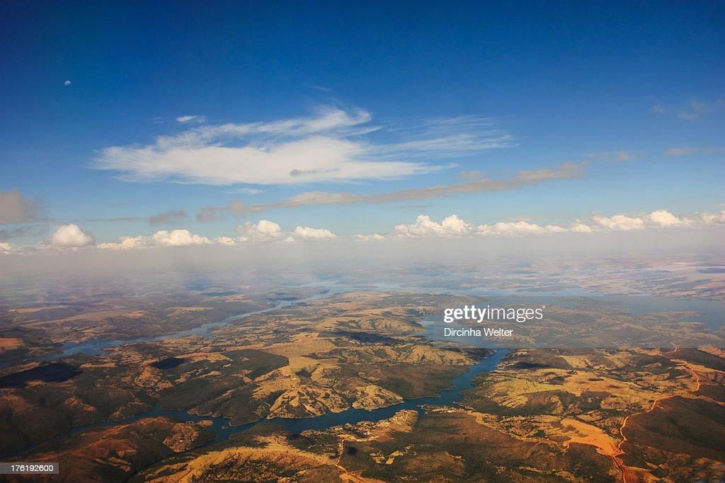 Vista aérea do entorno de Brasília. : News Photo