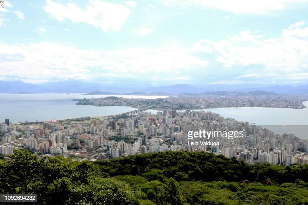 Partial aerial view of Florianopolis - SC - Brazil
