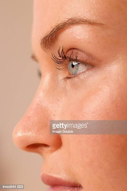 Partial profile of female face