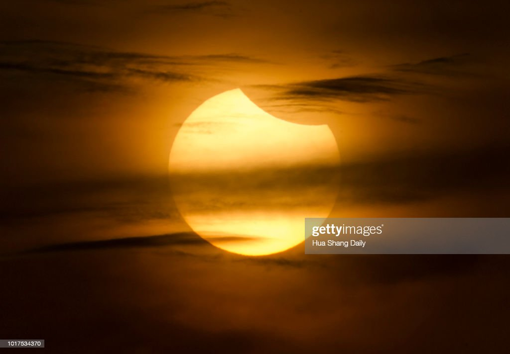 Partial Solar Eclipse In China : News Photo