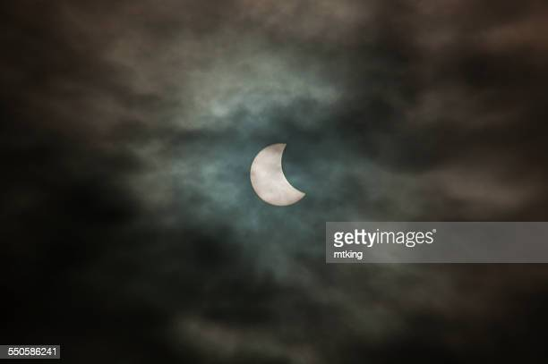 partial solar eclipse - malton stock pictures, royalty-free photos & images