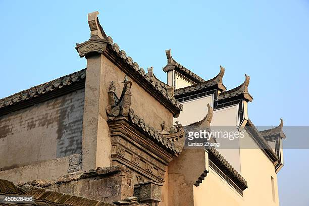 A partial view is shown on June 12 2014 in the ancient Hongcun Village China Hongcun Village located in the eastern province of Anhui is an ancient...