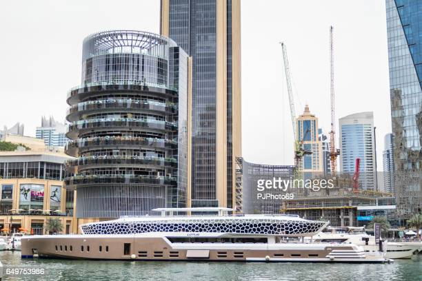 Partial view of Dubai Marina from promenade
