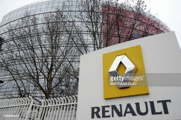 Partial view of French car maker Renault headquarters in BoulogneBillancourt west of Paris taken on January 18 2013 AFP PHOTO / BERTRAND GUAY / AFP /...