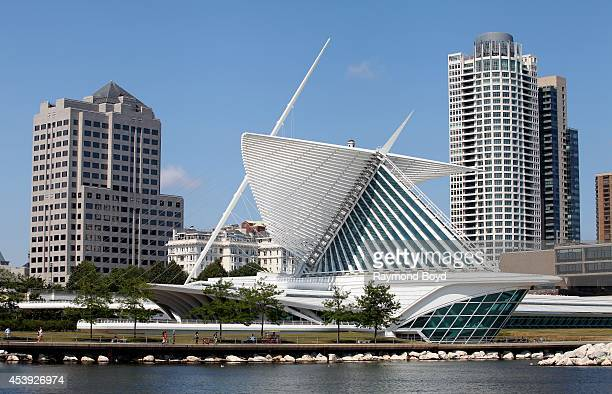 Partial view of Milwaukee Skyline as photographed from the Milwaukee Lakefront on August 16 2014 in Milwaukee Wisconsin