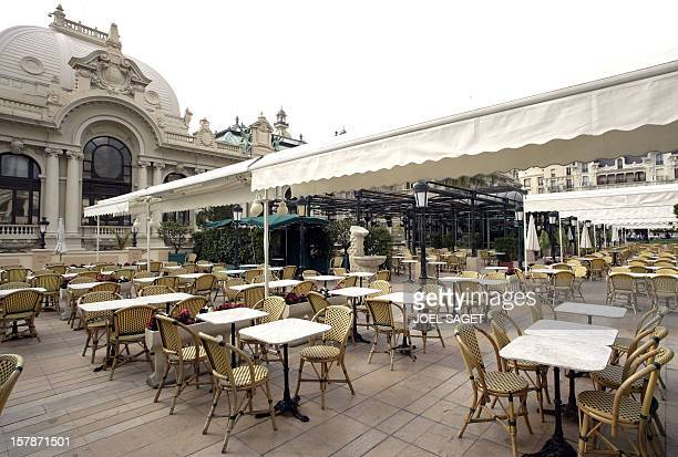 Partial view of the Cafe de Paris closed 15 April 2005 in Monaco before the funeral at the 19thcentury Cathedral where Rainier will be laid to rest...