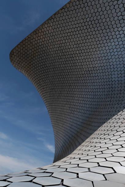 Partial view of the facade of Museo Soumaya, Mexico City