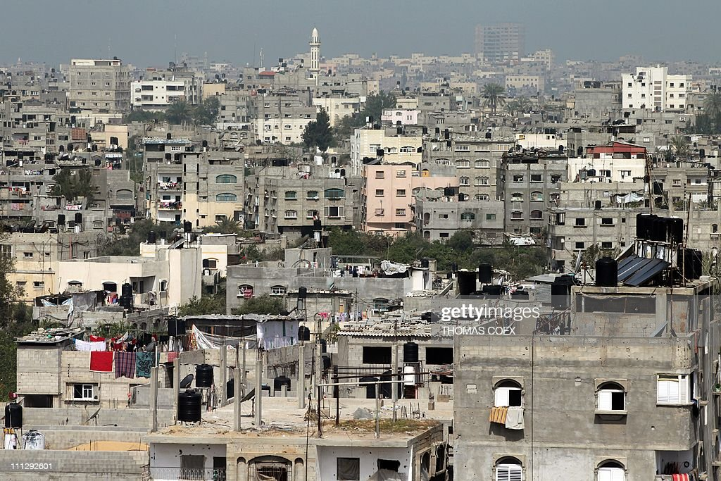 A partial view of the Jabalia refugee camp, northern Gaza