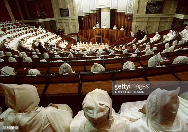A partial view of the Moroccan assembly listening to King Mohammed VI's opening speech of the parliament's autumn session 13 October 2000 in Rabat