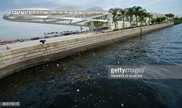Partial view of the Museu do Amanha open to Guanabara Bay in Rio de Janeiro Brazil on April 26 2016 / AFP / VANDERLEI ALMEIDA