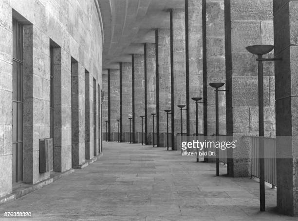 Partial view of the the external walking space of the Olympic stadium, constructed by the architect Werner March Vintage property of ullstein bild